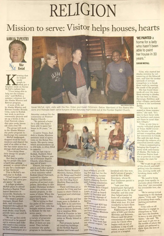 Kodiak Mirror News Article